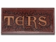 Part No: 87079pb0798  Name: Tile 2 x 4 with 'TERS' and Fur Pattern (Sticker) - Set 30628