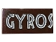Part No: 87079pb0810  Name: Tile 2 x 4 with 'GYROS' and Scratches Pattern (Sticker) - Set 75929