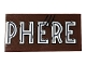 Part No: 87079pb0811  Name: Tile 2 x 4 with 'PHERE' and Scratches Pattern (Sticker) - Set 75929
