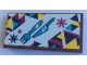 Part No: 87079pb0850  Name: Tile 2 x 4 with Snowflakes and Knife and Fork Pattern (Sticker) - Set 41324