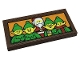 Part No: 87079pb0971  Name: Tile 2 x 4 with Elves and Santa Claus on Orange Background Pattern (Sticker) - Set 10275
