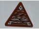 Part No: 892pb023R  Name: Road Sign Clip-on 2 x 2 Triangle with Wood Grain and 3 Nails Pattern Model Right Side (Sticker) - Set 9446