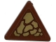 Part No: 892pb026L  Name: Road Sign Clip-on 2 x 2 Triangle with Dark Tan Scales Pattern Model Left Side (Sticker) - Set 70599
