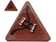 Part No: 892pb034L  Name: Road Sign 2 x 2 Triangle with Clip with Copper Handles Pattern Model Left Side (Sticker) - Set 70602