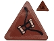 Part No: 892pb034R  Name: Road Sign 2 x 2 Triangle with Clip with Copper Handles Pattern Model Right Side (Sticker) - Set 70602