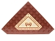 Part No: 92584pb004  Name: Wedge, Plate 10 x 10 Cut Corner with no Studs in Center with Carpet with Asian Symbols and Geometric Border Pattern (Sticker) - Set 70751
