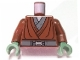 Part No: 973pb0416c01  Name: Torso SW Jedi Robe, Silver Snaffle Bit Buckle Pattern (Kit Fisto) / Reddish Brown Arms / Sand Green Hands