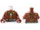 Part No: 973pb0888c01  Name: Torso PotC Bare Chest with Skull Necklace and Body Paint Pattern / Reddish Brown Arms / Reddish Brown Hands