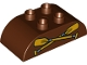 Part No: 98223pb007  Name: Duplo, Brick 2 x 4 Curved Top with Oars / Paddles Pattern