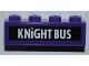 Part No: 3010pb154  Name: Brick 1 x 4 with 'KNIGHT BUS' Pattern (Sticker) - Set 4866