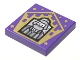Part No: 3068bpb1736  Name: Tile 2 x 2 with Groove with Chocolate Frog Card Bertie Bott Pattern