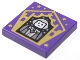 Part No: 3068bpb1737  Name: Tile 2 x 2 with Groove with Chocolate Frog Card Garrick Ollivander Pattern