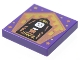 Part No: 3068bpb1740  Name: Tile 2 x 2 with Groove with Chocolate Frog Card Rowena Ravenclaw Pattern
