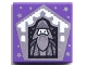 Part No: 3068bpb1742  Name: Tile 2 x 2 with Groove with Chocolate Frog Card Albus Dumbledore Silver Pattern