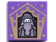Part No: 3068bpb1743  Name: Tile 2 x 2 with Groove with Chocolate Frog Card Albus Dumbledore Gold Pattern
