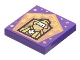 Part No: 3068bpb1745  Name: Tile 2 x 2 with Groove with Chocolate Frog Card Godric Gryffindor Pattern