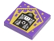Part No: 3068bpb1746  Name: Tile 2 x 2 with Groove with Chocolate Frog Card Minerva McGonagall Pattern