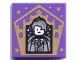Part No: 3068bpb1747  Name: Tile 2 x 2 with Groove with Chocolate Frog Card Gilderoy Lockhart Pattern
