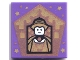 Part No: 3068bpb1749  Name: Tile 2 x 2 with Groove with Chocolate Frog Card Helga Hufflepuff Pattern
