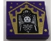 Part No: 3068bpb1750  Name: Tile 2 x 2 with Groove with Chocolate Frog Card Seraphina Picquery Pattern