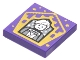 Part No: 3068bpb1751  Name: Tile 2 x 2 with Groove with Chocolate Frog Card Newt Scamander Pattern