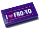 Part No: 3069bpb0735  Name: Tile 1 x 2 with Groove with Heart and 'I FRO-YO' Pattern (Sticker) - Set 41320