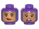 Part No: 3626cpb1771  Name: Minifigure, Head Dual Sided Female Balaclava with Medium Dark Flesh Face, Beauty Mark, Crooked Smile / Scared Pattern - Hollow Stud