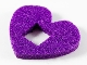 Part No: 66826  Name: Felt Fabric 4 x 3 Heart Thick with Square Hole