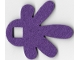 Part No: 66831  Name: Felt Fabric 6 1/2 x 7 1/2 Leaf Thick with Square Hole