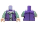 Part No: 973pb2219c01  Name: Torso SW Female Outline Dark Purple Vest over Sand Green Shirt with Collar with Silver Belt Buckle Pattern / Sand Green Arms / Light Nougat Hands