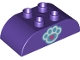 Part No: 98223pb008  Name: Duplo, Brick 2 x 4 Curved Top with Paw Print Pattern
