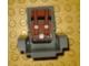 Part No: 2717pb06  Name: Technic Seat 3 x 2 Base with Cushions and Seat Belt Pattern (Sticker) - Set 8465