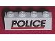 Part No: 3010pb081  Name: Brick 1 x 4 with Black 'POLICE' Red Line Pattern (Sticker) - Set 6598