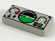 Part No: 3069bpb0035  Name: Tile 1 x 2 with Groove with Avionics Black and Green Pattern