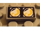 Part No: 3069bpb0058  Name: Tile 1 x 2 with Groove with Headlights Dual Pattern (Sticker) - Set 8232