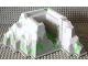 Part No: 33289px2  Name: Baseplate, Raised Belville Mountain 22 x 22 x 10 with Snow, Ice and Plants Pattern