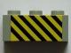 Part No: 3622pb063  Name: Brick 1 x 3 with Black and Yellow Danger Stripes Pattern (Sticker) - Set 7823
