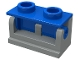 Part No: 3937c03  Name: Hinge Brick 1 x 2 Base with Blue Hinge Brick 1 x 2 Top (3937 / 3938)