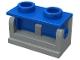 Part No: 3937c03  Name: Hinge Brick 1 x 2 Base with Blue Hinge Brick 1 x 2 Top Plate (3937 / 3938)