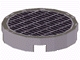 Part No: 4150ps4  Name: Tile, Round 2 x 2 with Grille Fine Mesh Pattern