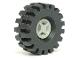 Part No: 4624c03  Name: Wheel 8mm D. x 6mm with Black Tire 21mm D. x 9mm Offset Tread Medium (4624 / 4084)