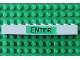 Part No: 6111pb011  Name: Brick 1 x 10 with Black 'ENTER' on Green Background Pattern (Sticker) - Set 4556