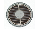 Part No: 6177pb002  Name: Tile, Round 8 x 8 with Grille Pattern
