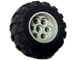 Part No: 6595c01  Name: Wheel 36.8mm D. x 26mm VR with Axle Hole, with Black Tire 56 x 30 R Balloon (6595 / 32180)
