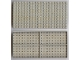Part No: 700eX  Name: Brick 10 x 20 without Bottom Tubes, with '+' Cross Support (early Baseplate)