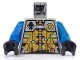 Part No: 973px132c01  Name: Torso Space UFO Silver and Gold Circuitry Pattern / Blue Arms / Black Hands