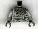 Part No: 973px167c01  Name: Torso Studios Bandage Wrapping and Necklace Pattern (Mummy) / Light Gray Arms / Dark Gray Hands