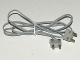 Part No: bb0081c96  Name: Electric, Wire 12V / 4.5V with 2 Leads, 96 Studs Long with 2 Light Gray Electric, Connector, 2-Way Male Squared Narrow Long without Center Post