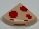 Part No: 25269pb013  Name: Tile, Round 1 x 1 Quarter with Pixelated Super Mushroom Pattern