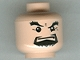 Part No: 3626bpb0253  Name: Minifigure, Head Male Black Goatee, Thick Eyebrows and Squint, Closed Mouth, White Pupils Pattern (HP) - Blocked Open Stud